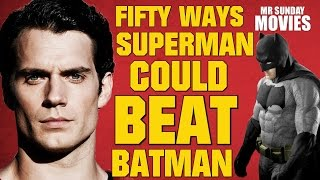 Download Fifty Ways SUPERMAN Could Beat BATMAN Video