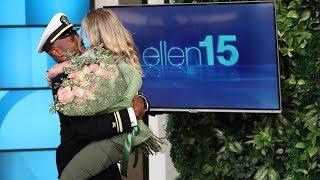 Download Ellen Reunites Superfan with Her Navy Boyfriend Video