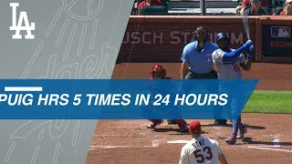 Download Puig Homers 5 Times over 24 Hours Video