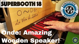 Download Superbooth 2018: Onde - a Gorgeous Wooden Speaker - Great For Instruments! Video