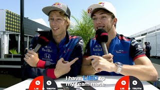 Download Toro Rosso's Brendon Hartley and Pierre Gasly   Grill the Grid: Truth or Lie? Video