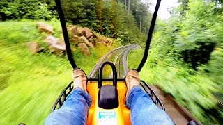 Download Smoky Mountain Alpine Coaster in the rain on-ride HD POV @60fps Video
