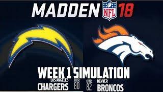 Download Madden NFL 18 - Week 1 Simulation - Los Angeles Chargers vs Denver Broncos (PS4 1080P) Video