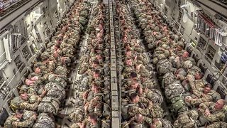 Download Paratroopers Static Line Jump From C-17 Video