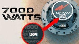 Download 7000 WATTS To Kenwood Door Speakers ?! Video