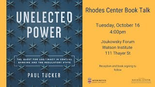 Download Paul Tucker – Unelected Power: The Quest for Legitimacy in Central Banking and the Regulatory State Video