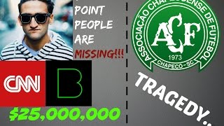 Download Casey Neistat sells Beme for $25 MILLION! | Chapeconse Brazil Soccer Team Tragedy Video