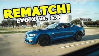 Download MUSTANG WANTS A REMATCH! (Evo X vs. 5.0 Mustang GT) Video