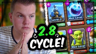 Download INSANE CYCLE! 12 Win Graveyard Tesla Deck! LIVE Gameplay Grand Challenge! - Clash Royale Video