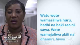 Download UDHR Video Article 1 Swahili/Kiswahili Flora Nducha Video