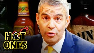 Download Andy Cohen Spills the Tea While Eating Spicy Wings | Hot Ones Video