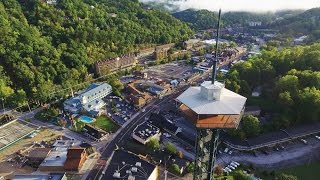 Download Smoky Mountains (Tennesse) Aerial in Gatlinburg and Pigeon Forge Video