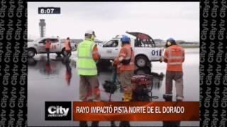 Download Rayo impactó pista norte del Dorado | CityTv Video