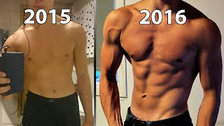 Download 1 Year Natural Body Transformation ★ 16-17 Swedish JoelkarlHD Video