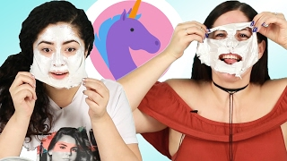 Download People Try A ″Unicorn″ Face Mask Video