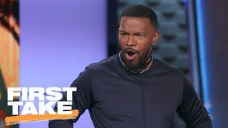 Download Jamie Foxx impersonates LeBron James, thinks Cavaliers will sweep NBA Finals | First Take | ESPN Video