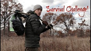 Download Dollar Store Supershelter Overnight With My Dog-10$ Woods Survival Challenge (24 Hours) Video
