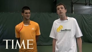 Download Novak Djokovic's John McEnroe Impression & Free Tennis Lessons | TIME Video