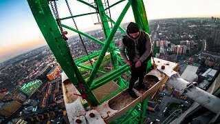 Download escaping from police (south london crane climb) Video