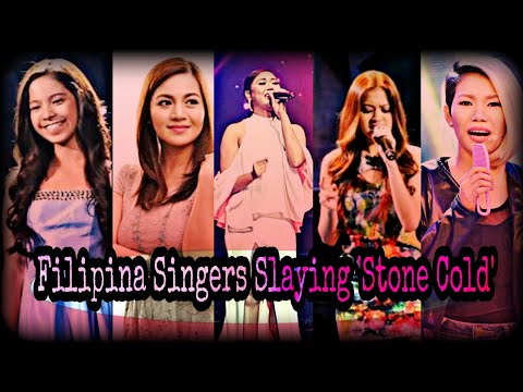 Filipina Singers Slaying 'Stone Cold' by Demi Lovato.