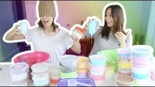 Download BLINDFOLDED SLIME SMOOTHIE CHALLENGE feat. MY SISTER! (who wins?!) Video