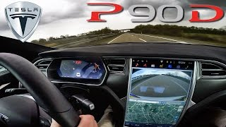 Download Tesla Model S P90D 762 HP LUDICROUS TOP SPEED & Acceleration on AUTOBAHN by AutoTopNL Video