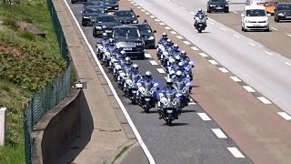 Download Queen Elizabeth II and Enormous Escort Entourage on a cleared Highway at Frankfurt Video