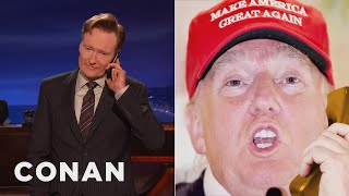 Download Donald Trump Calls Conan To Set The Record Straight About Russia - CONAN on TBS Video