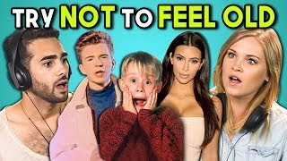 Download ADULTS REACT TO TRY NOT TO FEEL OLD CHALLENGE #2 (ft. Eliza Taylor) Video