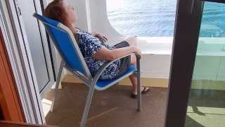 Download Our balcony room on the Jewel. Video