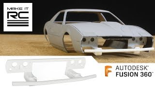Download Speed Modeling Custom Front Bash Bar and Rear Panel for Firebird in Fusion 360 Video