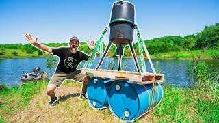 Download Building a HOMEMADE Floating FISH FEEDER for My POND!!! (DIY) Video