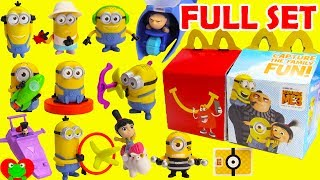 Download 2017 Despicable Me 3 Minions McDonald's Happy Meal Toys Full Set Video