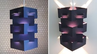 Download DIY lamp for pendant light - learn how to make a lampshade/lantern for hanging lights - EzyCraft Video