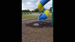 Download Fat man stuck in slide Video