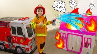 Download Jannie Pretend Play Rescue w/ Fire Engine Truck Ride-On Toys Video
