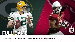 Download 2015 NFC Divisional Round: Packers vs. Cardinals | ″Fitzgerald's Legendary Day″ | NFL Full Game Video
