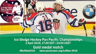 Download Gold medal game| 2016 Ice Sledge Hockey Pan Pacific Championships, Buffalo Video
