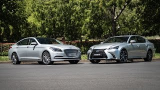 Download 2016 Hyundai Genesis V6 vs Lexus GS350: 0-100km/h & engine sound comparison Video