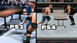 Download The Evolution Of Table Matches In WWE Games Video