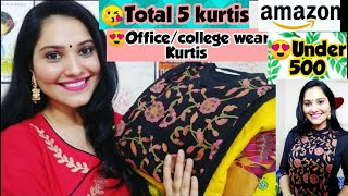 Download 🌟Amazon kurti Under 500🌟Amazon Kurti Haul🌟Ur wish outfits 🌟Preena Video