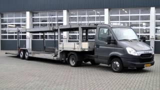 Download Iveco Daily BE autotransporter 5-lader, 6.400kglaadvermogen op BE rijbewijs, trekker Video