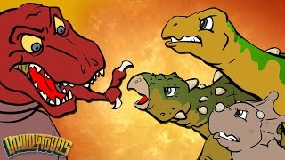 Download Best Dino Songs #1 | Dinosaur Battles and More Dinosaur Songs from Dinostory by Howdytoons Video
