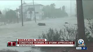 Download Conditions worsen in Apalachicola as Hurricane Michael nears Panhandle Video