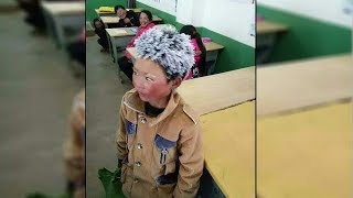 Download 8-year-old comes to school with a frozen head and when the teacher looks closer his heart breaks Video