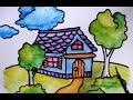 Download cara menggambar rumah untuk SD sekolah dasar Video