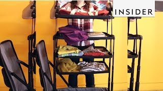 Download This luggage has built-in shelves Video