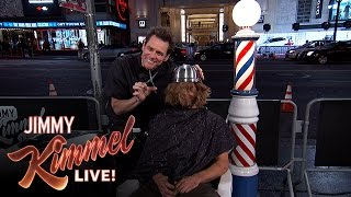 Download Jim Carrey Gives People Bowl Cuts on Hollywood Blvd. Video
