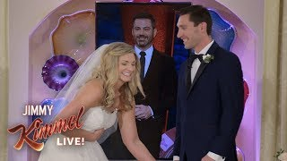 Download Jimmy Kimmel & Celine Dion Surprise Couple Getting Married in Las Vegas Video