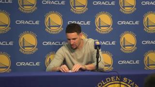 Download Klay throws paper airplane at media: 'I make the best paper airplane on the West Coast' Video